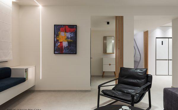 ירון בן גרא - בית פרטי בעומר - קונספט מודרני חם - לאחר השיפוץ